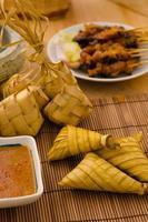 ketupat comida tradicional da Malásia foto
