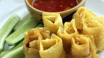 wonton frito tailândia foto