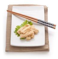 pele de tofu foto