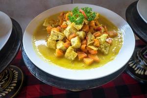 caril de tofu foto