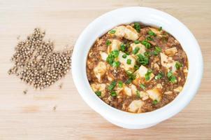sichuan mapo tofu, comida chinesa foto