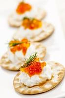 aperitivos de caviar foto