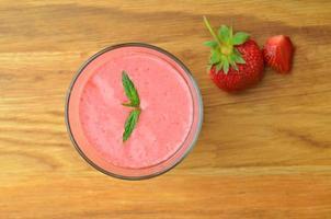 milkshake de morango foto