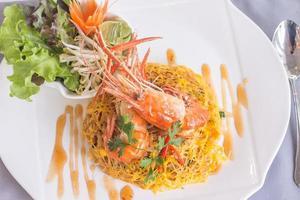 mexa a Tailândia com camarão foto