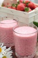 milkshake de morango. foto