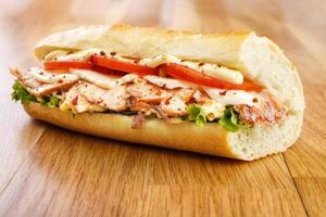 sanduíche de salmão foto