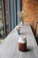 chocolate gelado foto