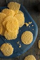 batatas fritas caseiras de queijo parmesão foto