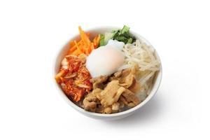 prato de arroz coreano / bibimbap foto