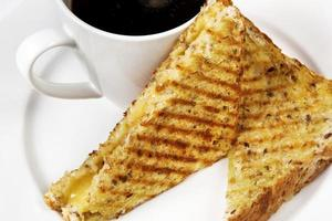 sanduíche e café foto