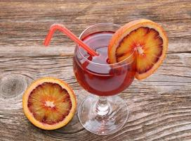 cocktail de laranja de sangue foto