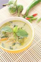 frango com curry verde
