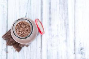 bebida de leite (chocolate) foto
