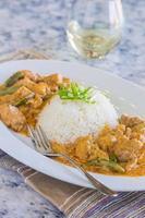 frango panang curry foto