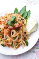 khao inhame (salada de arroz). foto