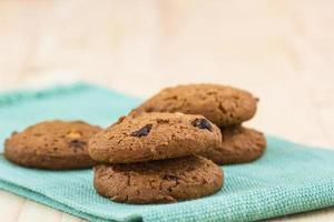 biscoitos de chocolate.