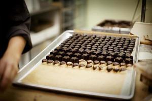 produção de chocolate foto