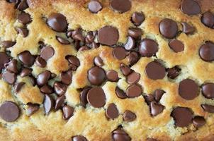 close-up de pão com gotas de chocolate