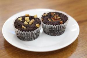 cupcake de chocolate foto
