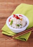 arroz cozido foto