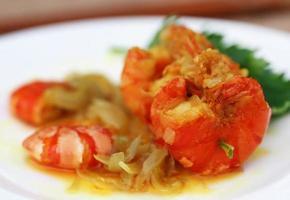 camarão cozido foto
