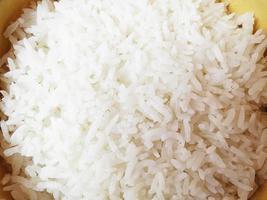 reflexão de arroz cozido foto