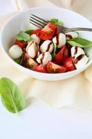 salada de tomate com bolas de queijo foto