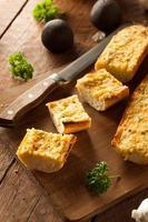pão de alho de queijo caseiro