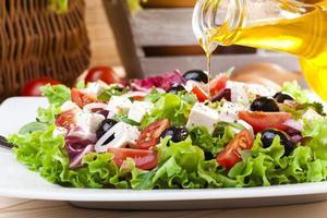 salada grega fresca foto