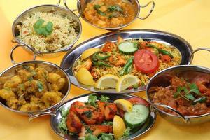 refeição de curry indiano