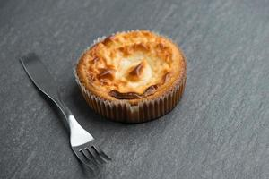 cheesecake de fundo de cozimento foto
