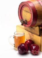 copo de cidra de maçã foto