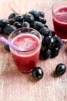 suco de uva feito na hora foto