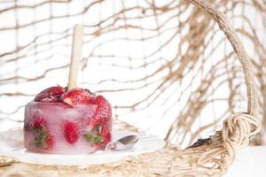 sorvete de morango foto
