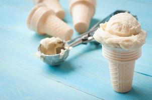 ingredientes para o sorvete homemad foto