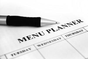 planejador de menu foto