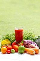 Suco de vegetais foto