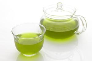 chá verde jananese frio