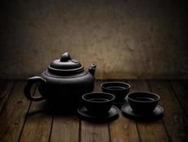 louça de chá chinês foto