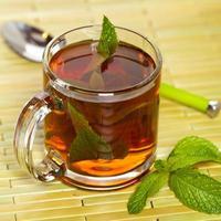 chá com hortelã foto