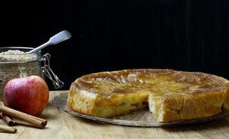torta de maçã caramelizada torta de bolo