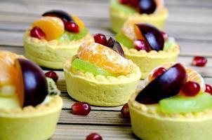 mini tartes com frutas