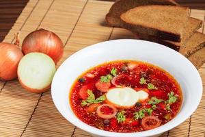 sopa com legumes foto