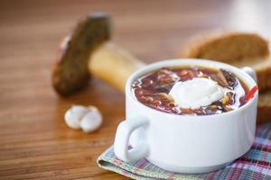 sopa com cogumelos foto