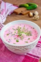 sopa fria com legumes foto