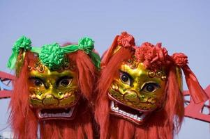 dança do leão chinês