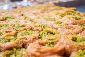 baklava de pistache foto