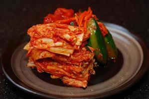 kimchi prato coreano de comida foto