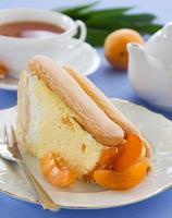 """bolo de frutas de verão """"charlotte"""" com damascos. foto"""