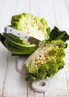 repolho de brócolis romanesco foto